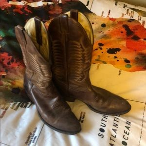 Other - Brown leather Nashville cowboy boots!